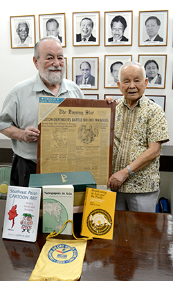 Lent donates books, artifacts, research notes to AMIC