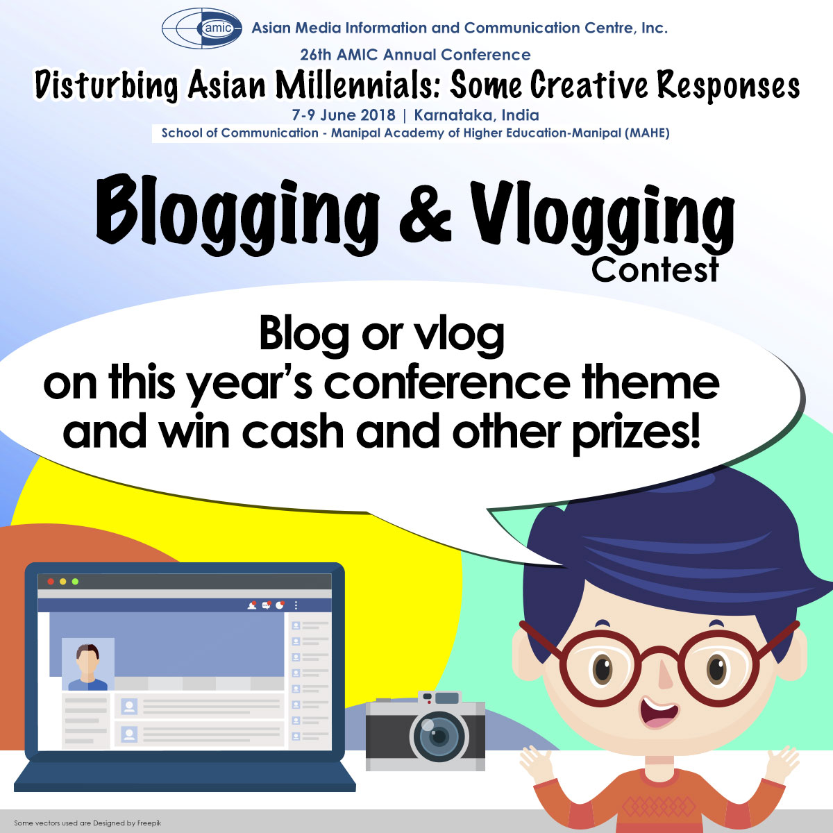 Blogging and Vlogging Contest | Asian Media Information and