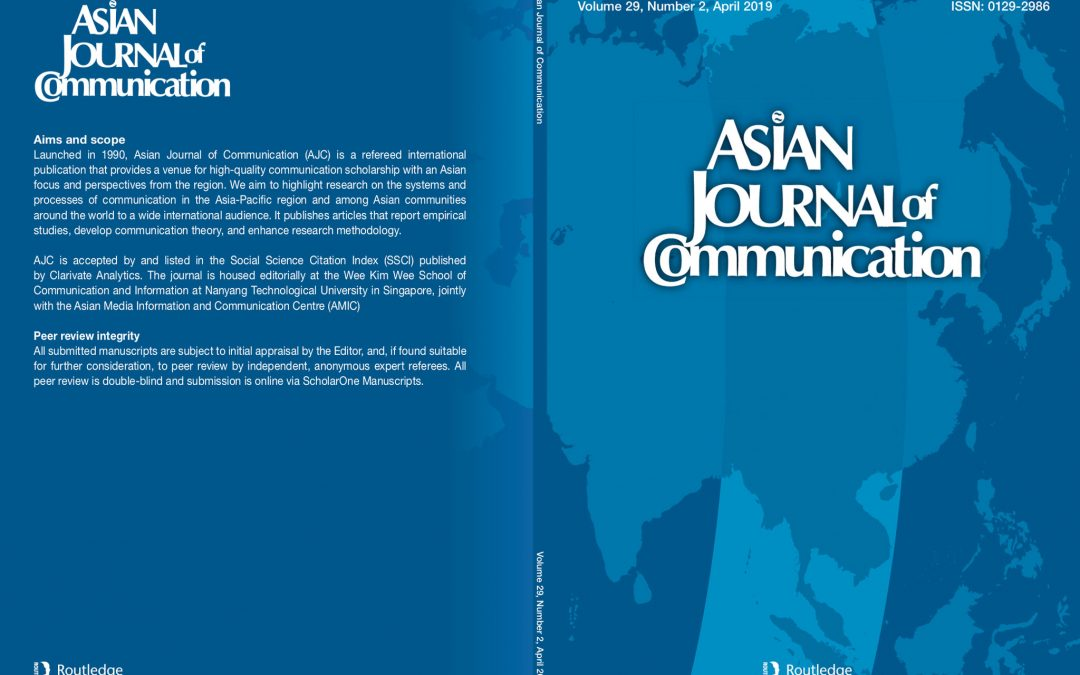 Asian Journal of Communication (AJC) Volume 29 No.2