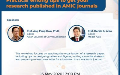 Practical writing tips to get your research published in AMIC journals