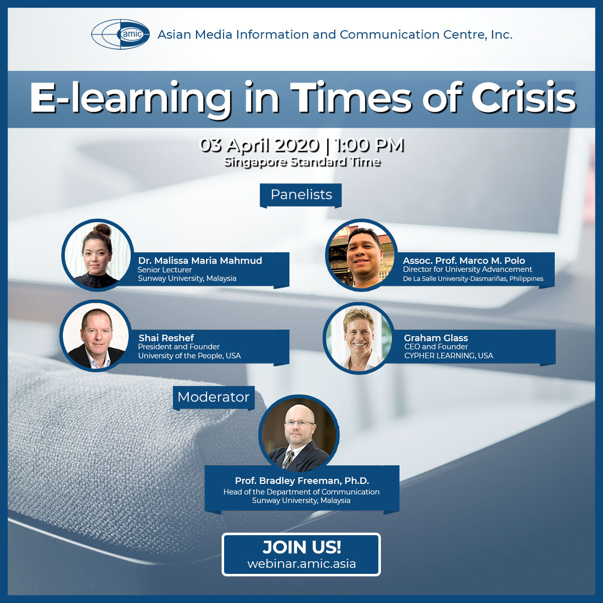Webinar Poster: E-Learning in Times of Crisis
