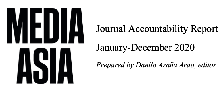 Media Asia Journal Accountability Report (January-December 2020)